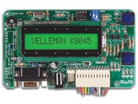 PROGRAMMEERBAAR MESSAGE BOARD MET LCD, SERIËLE INTERFACE & 8 ING