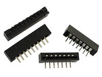 MEMBRANE KEYBOARD CONNECTOR - TOP ENTRY - 6 CONTACTS