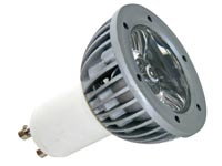 3W LED LAMP - GREEN - 230V - GU10