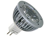 3W LED LAMP - KOUD WIT (6400K) 12VAC/DC - MR16