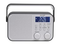 "DAB-39GREY - DAB+/FM-RADIO MET 2.8"" LCD-DISPLAY"
