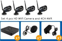 4CH Wifi HD Camera set met HD Netwerk Recorder