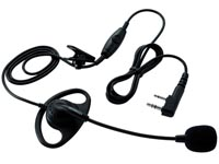 Kenwood KHS29FW Boom Microphone with &#34D&#34 Earpiece and PTT
