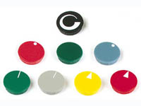 LID FOR 28mm BUTTON (BLUE - WHITE ARROW)